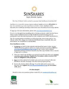 SunShares 2017 flyer